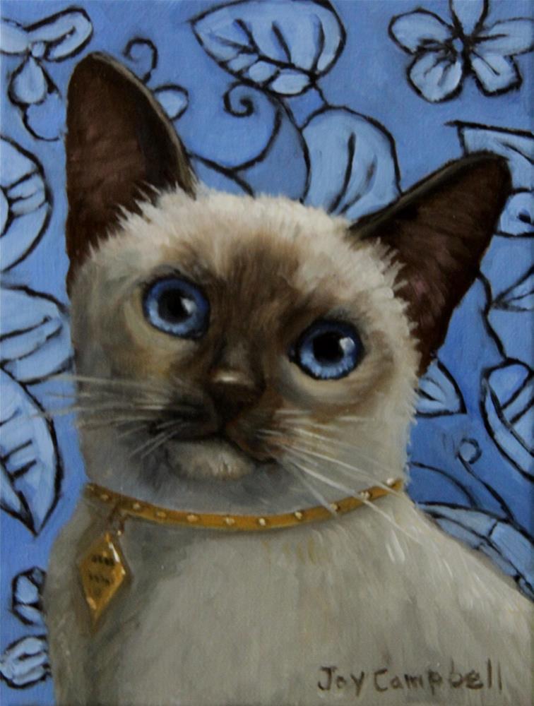 """Cool Blue"" original fine art by Joy Campbell"