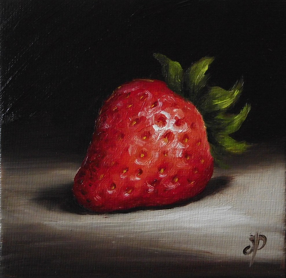 """Little Strawberry #2"" original fine art by Jane Palmer"