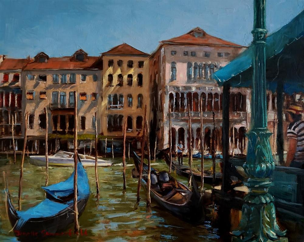"""Gondola Dock"" original fine art by Jonelle Summerfield"