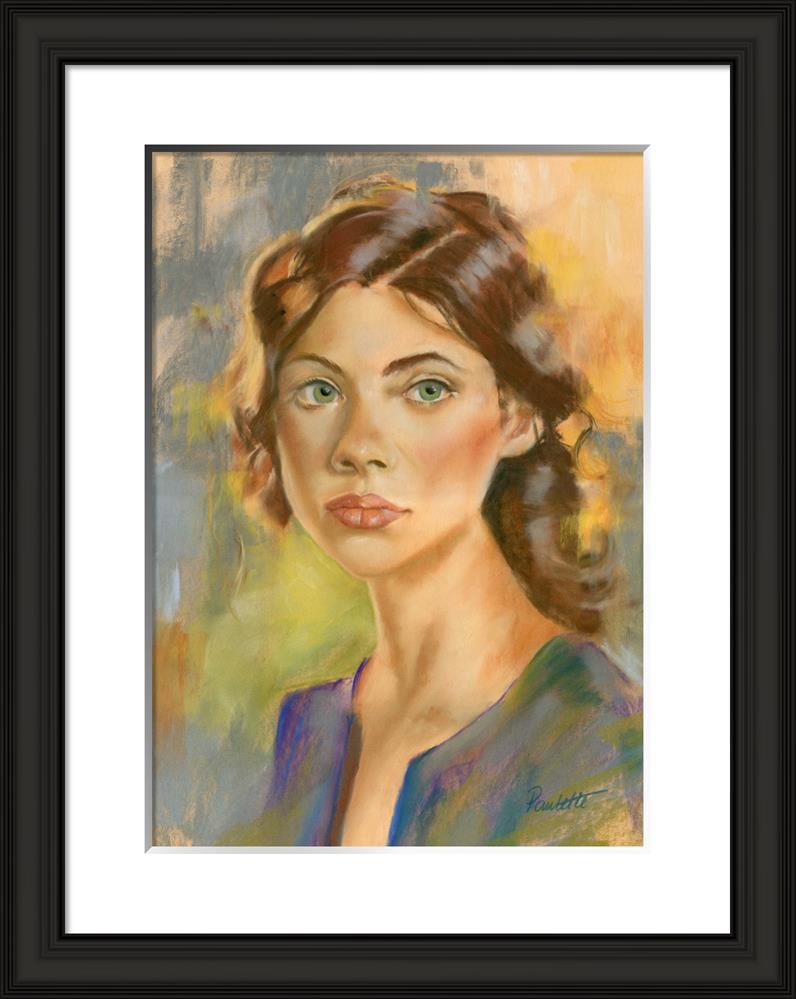 """The Glance"" original fine art by Paulette Farrell"