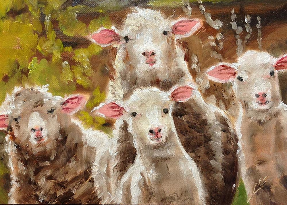 """Feed My Sheep"" original fine art by Linda Lowery"