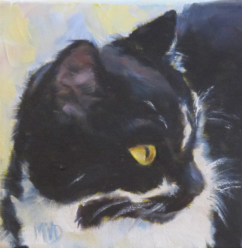 """Tuxedo"" original fine art by Mary  Van Deman"