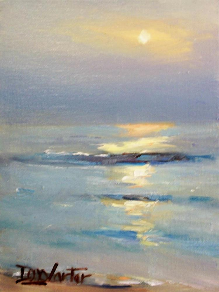 """OCEAN SUNSET"" original fine art by Doug Carter"