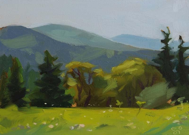 """""""In Croatia III."""" original fine art by Istvan Schaller"""