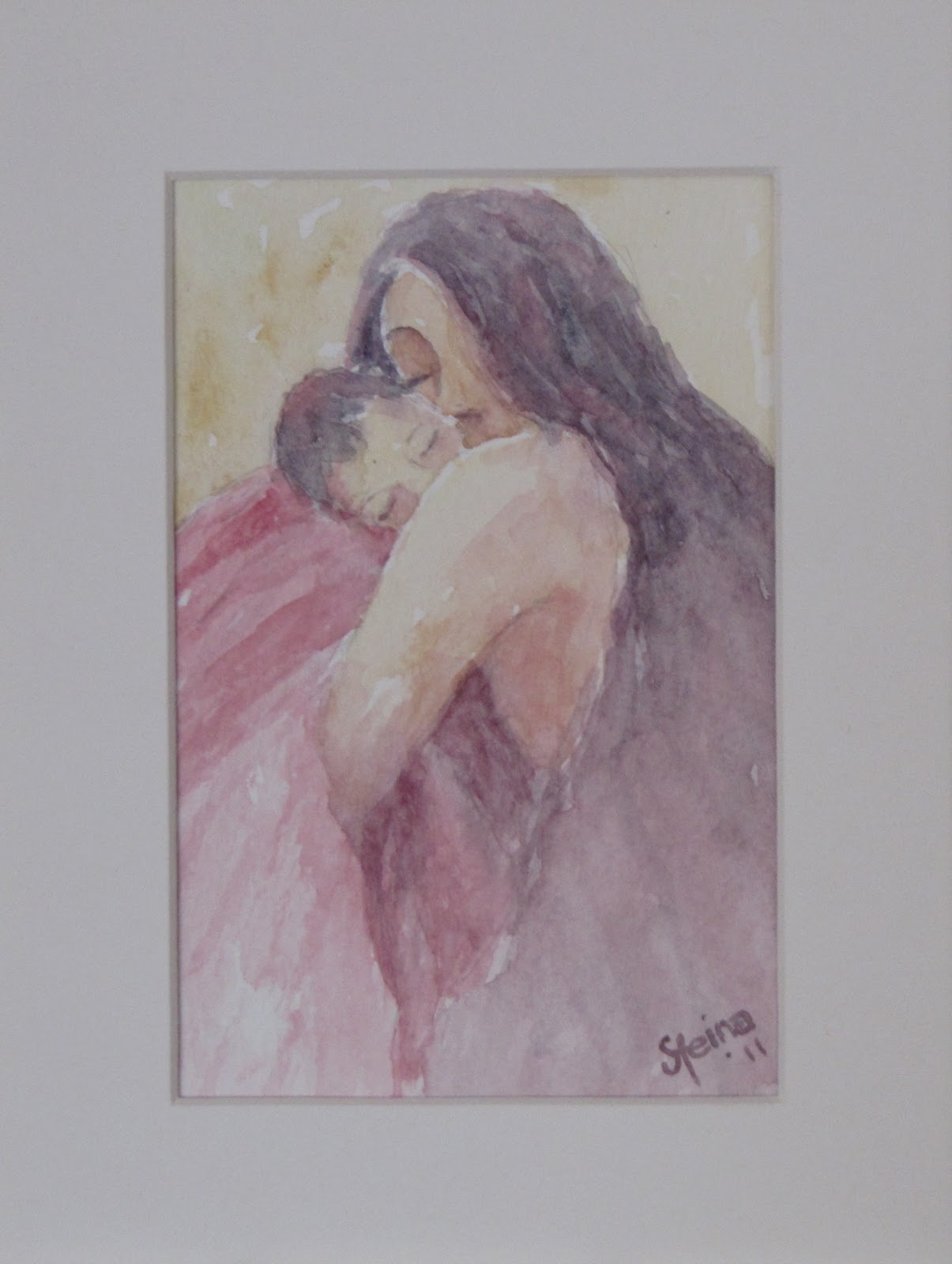 """Loving"" original fine art by Steinunn Einarsdottir"
