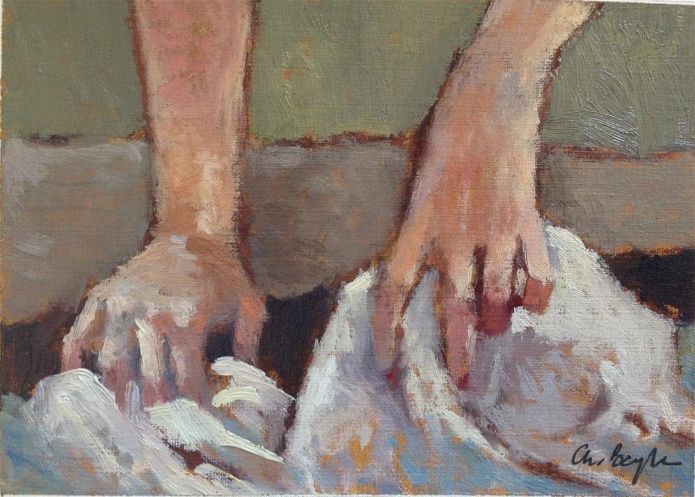 """Hands' study (washerwoman)"" original fine art by Christine Bayle"