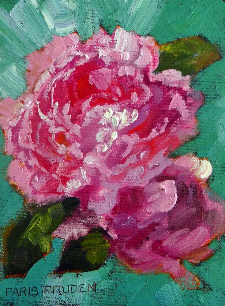 """Irish Peonies"" original fine art by Nancy Paris Pruden"
