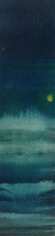 """Night Sea"" original fine art by Karen Collins"