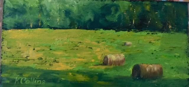 """""""Summer Fields"""" original fine art by Kathy Collins"""