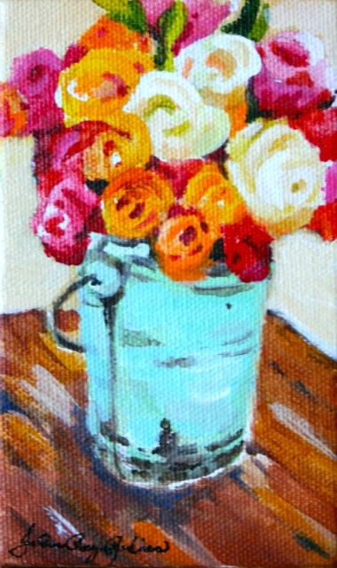 """Minty Green Container"" original fine art by JoAnne Perez Robinson"