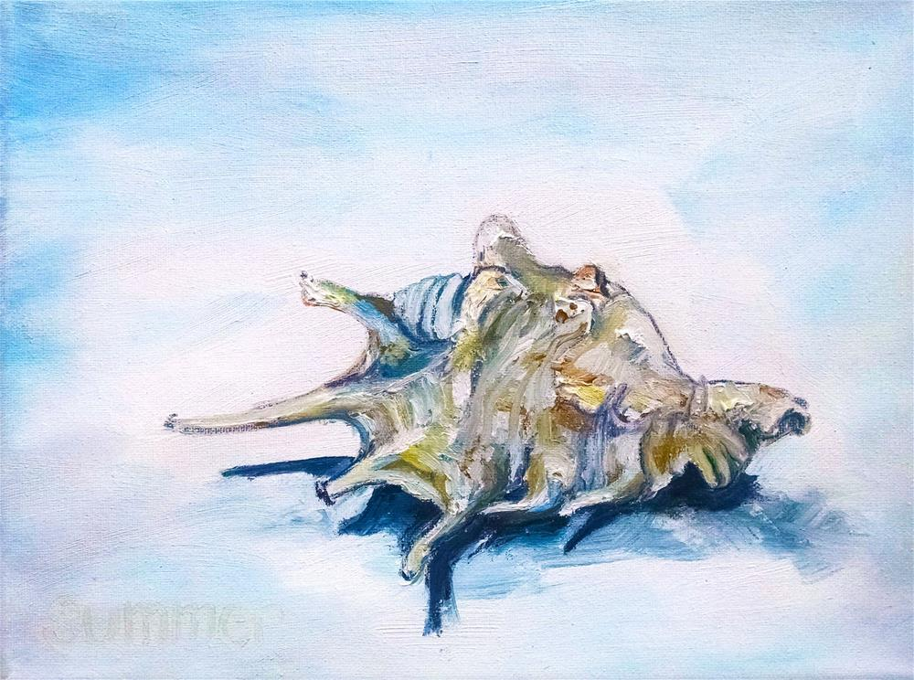 """Summer Shell"" original fine art by Heather Smith"