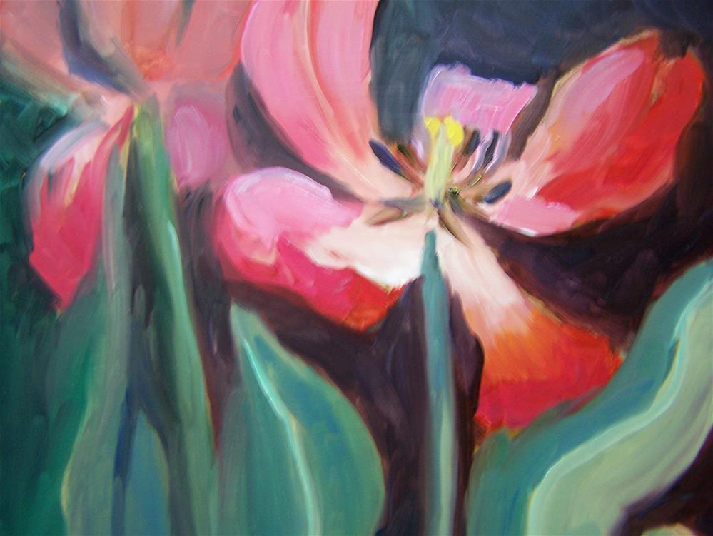 """Red Tulip"" original fine art by Joan Reive"