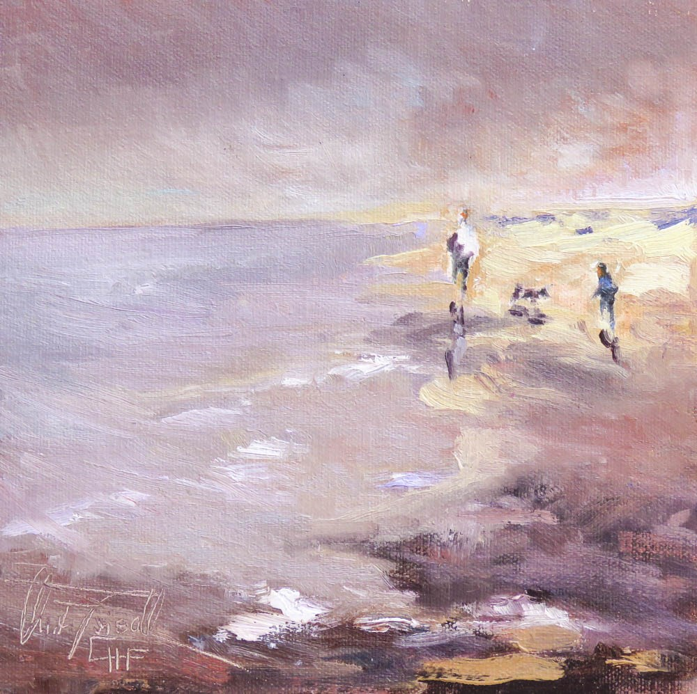 """late afternoon at the beach"" original fine art by Christa Friedl"