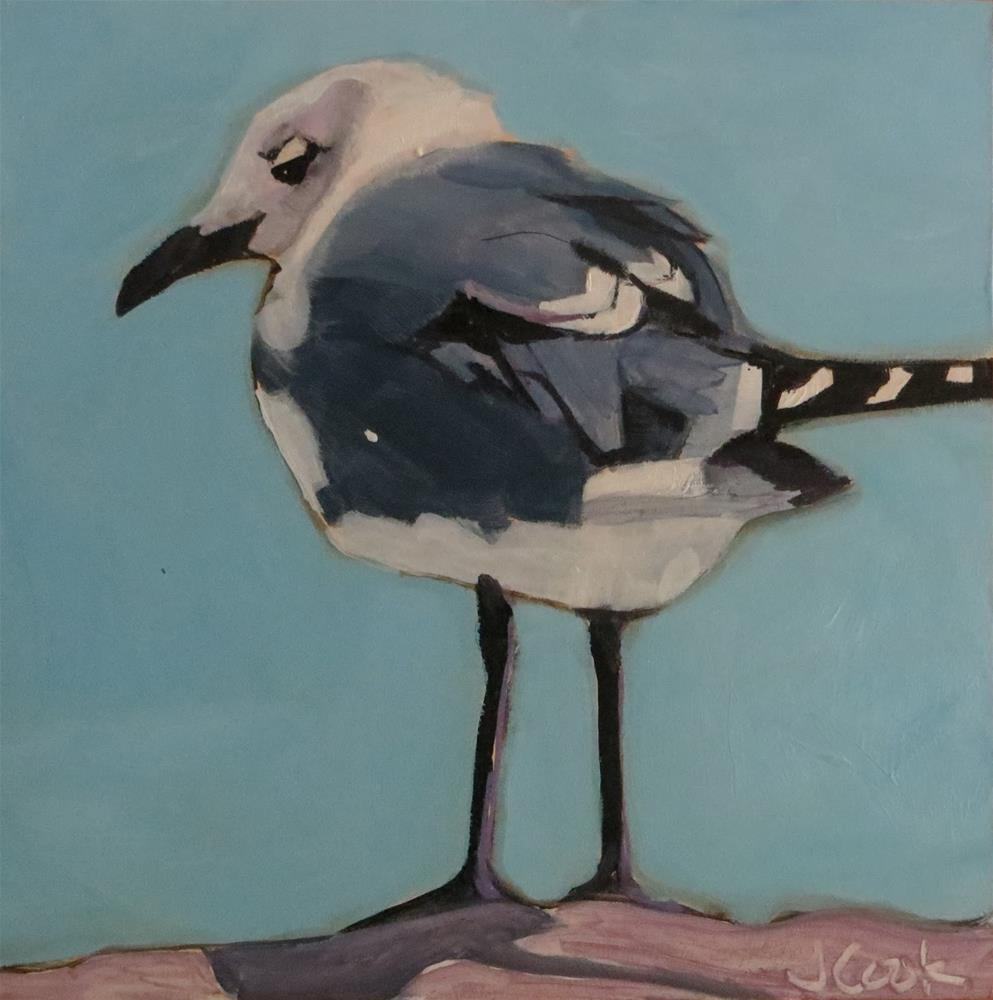 """Birdie 3"" original fine art by Janice Cook"