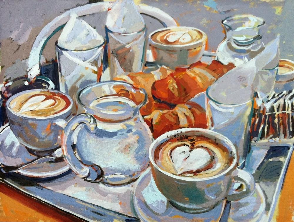 """Venice breakfast"" original fine art by Haidee-Jo Summers"