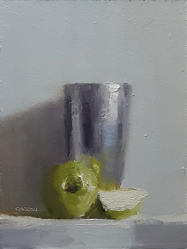 """Cup with Apple"" original fine art by Neil Carroll"