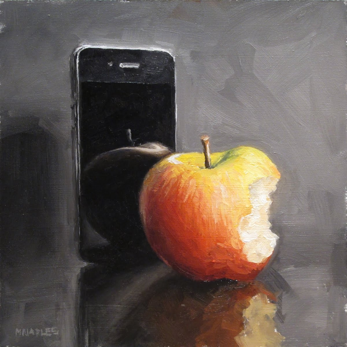 """Apple with Honeycrisp"" original fine art by Michael Naples"