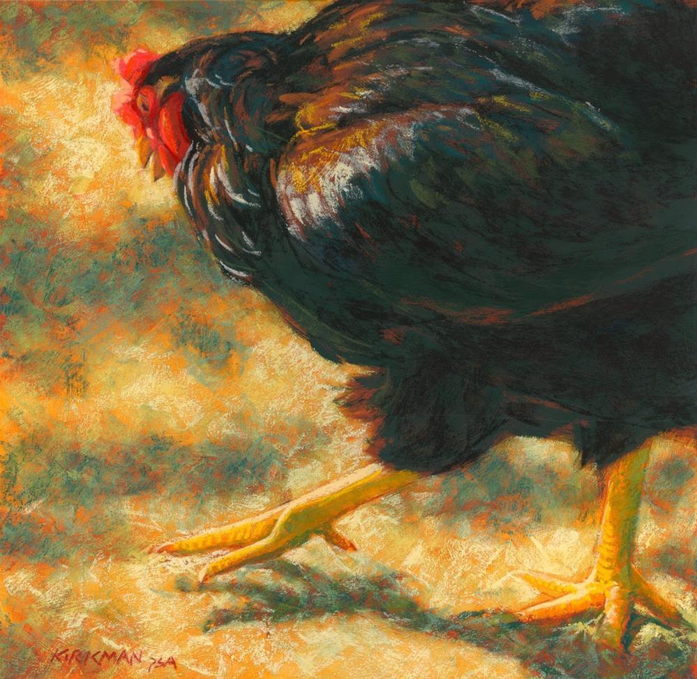 """Big Chicken"" original fine art by Rita Kirkman"