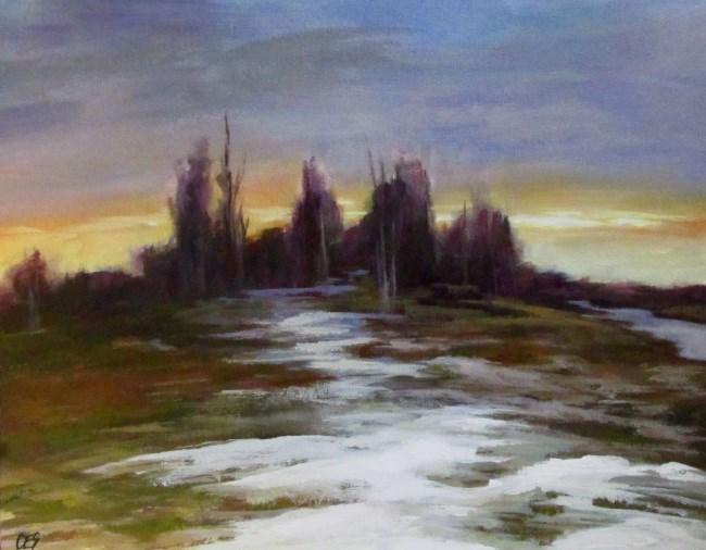 """""""Spring Thaw"""" original fine art by ~ces~ Christine E. S. Code"""