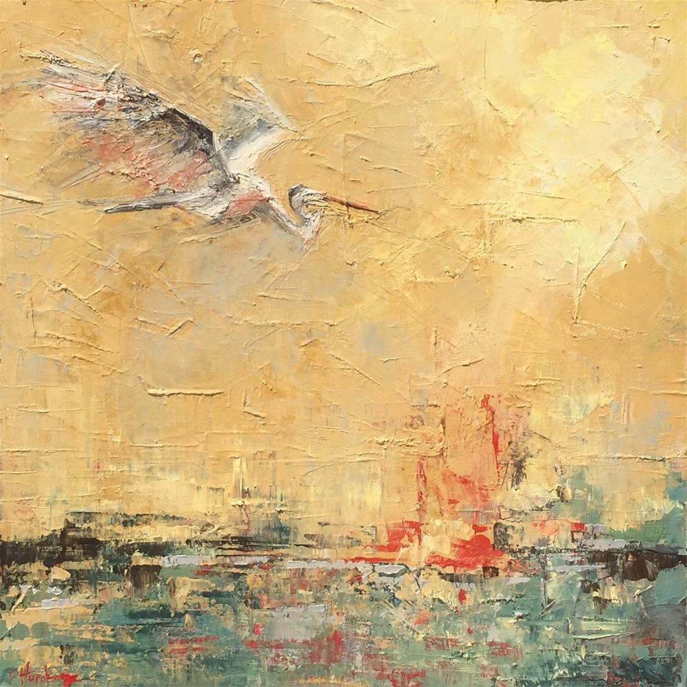 """Sore Must be the Storm"" original fine art by Denise Hopkins"