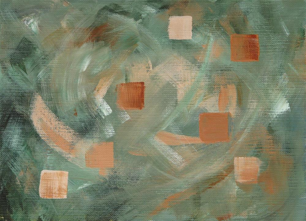 """Squares"" original fine art by Anna Starkova"