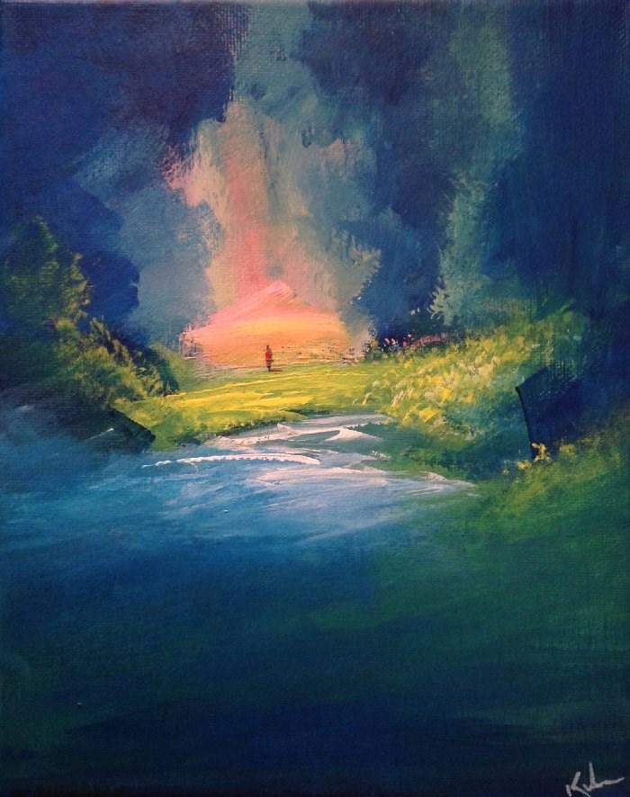 """""""Hidden to Find"""" original fine art by David Kuhn"""