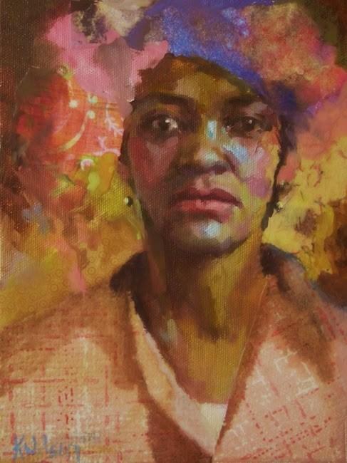 """""""Pink Do"""" original fine art by Katie Wilson"""