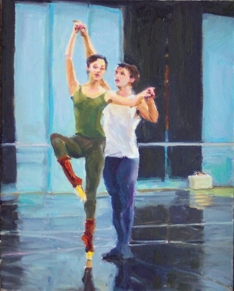 """Practise,figures,oil on canvas,10x8,price$795"" original fine art by Joy Olney"