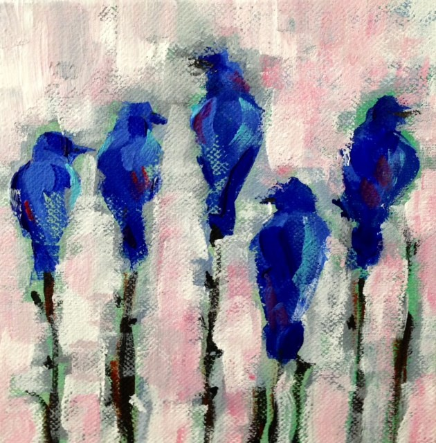 """Singing the Blues"" original fine art by Molly Wright"