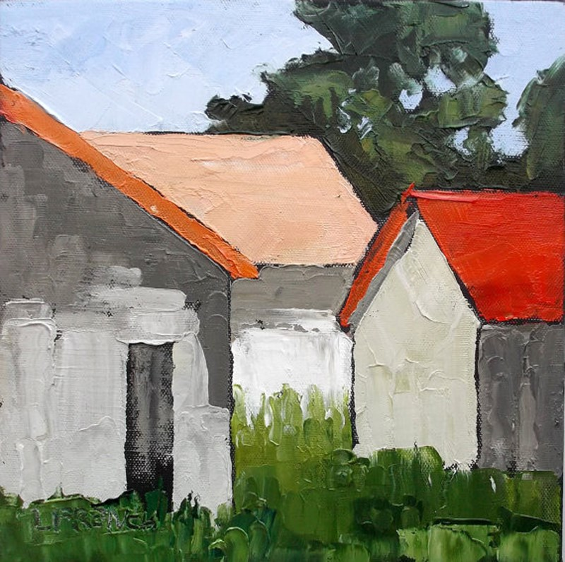 """Farm Barns"" original fine art by lynne french"