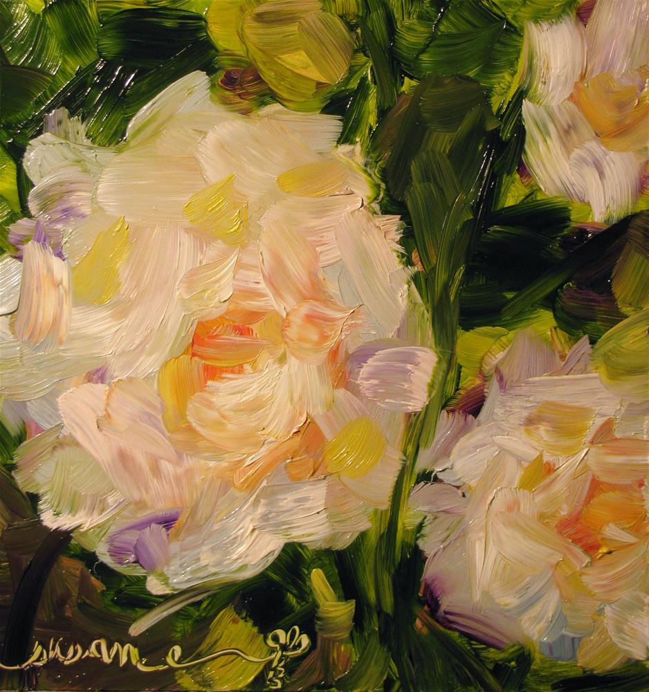 """Summer of White Roses"" original fine art by Susan Elizabeth Jones"