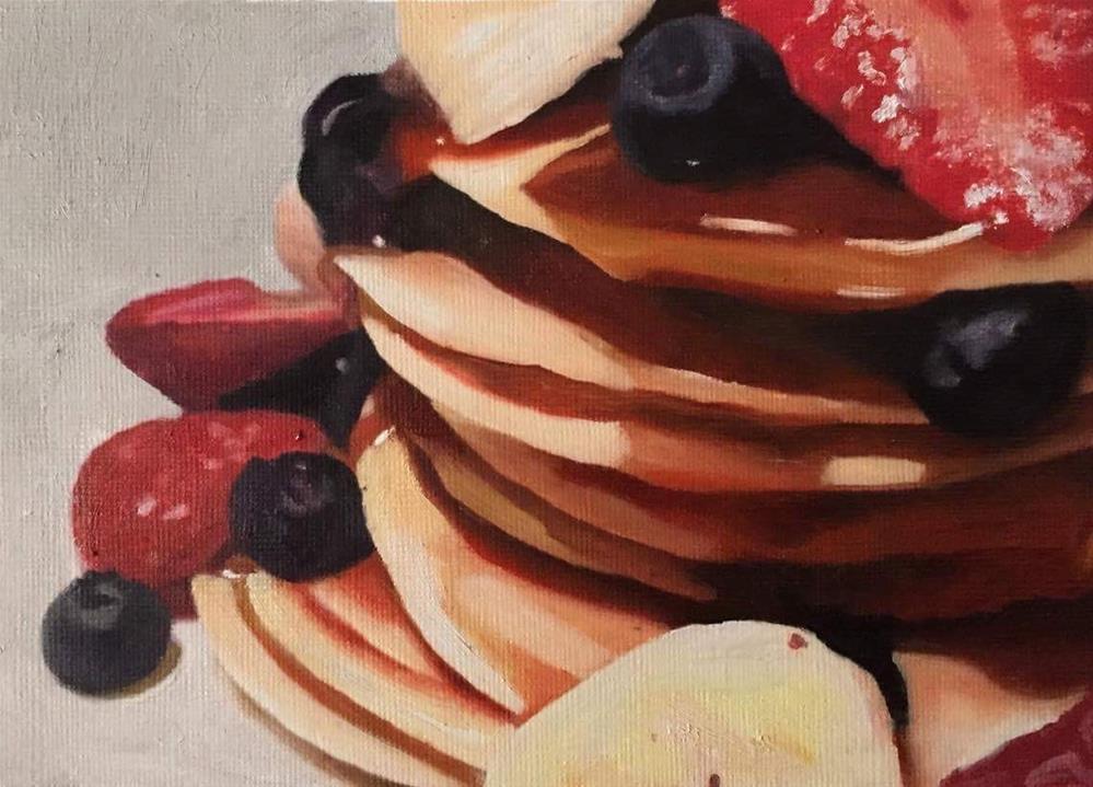 """Pancakes"" original fine art by John Cameron"