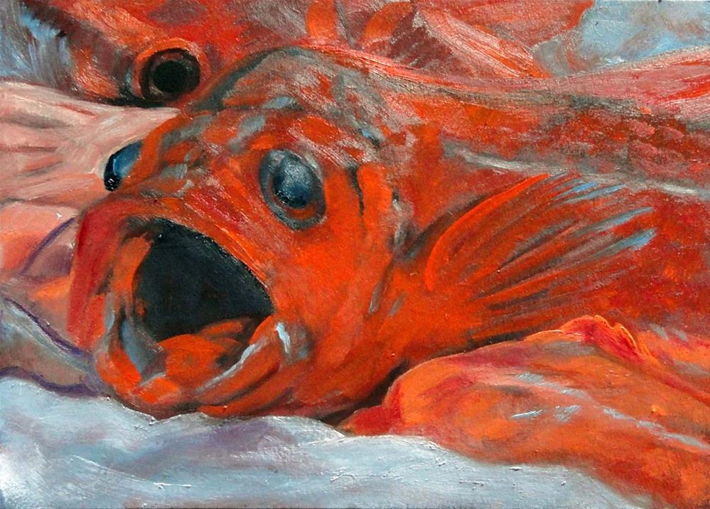 """One Fish, Two Fish, Red Fish..."" original fine art by Cietha Wilson"