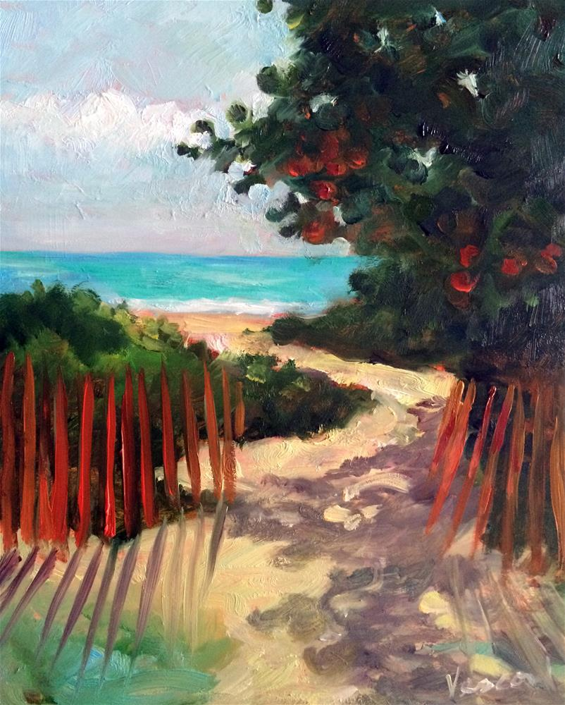 """Path to Delray Beach 1"" original fine art by Valerie Vescovi"