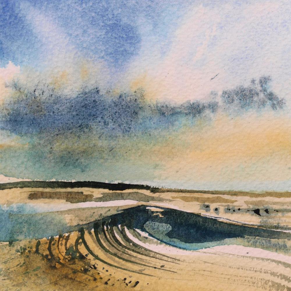 """sandy beach"" original fine art by Beata Musial-Tomaszewska"