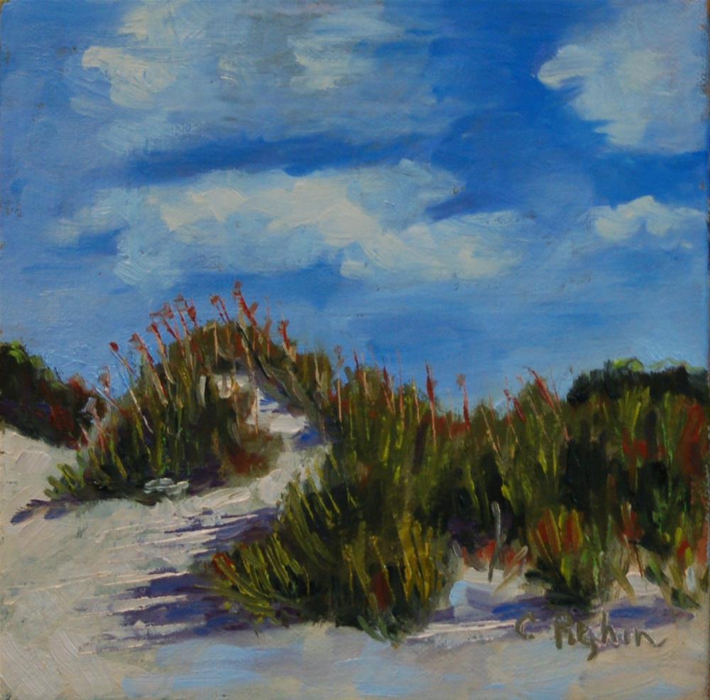 """Dune Shadows"" original fine art by Carol Pighin"