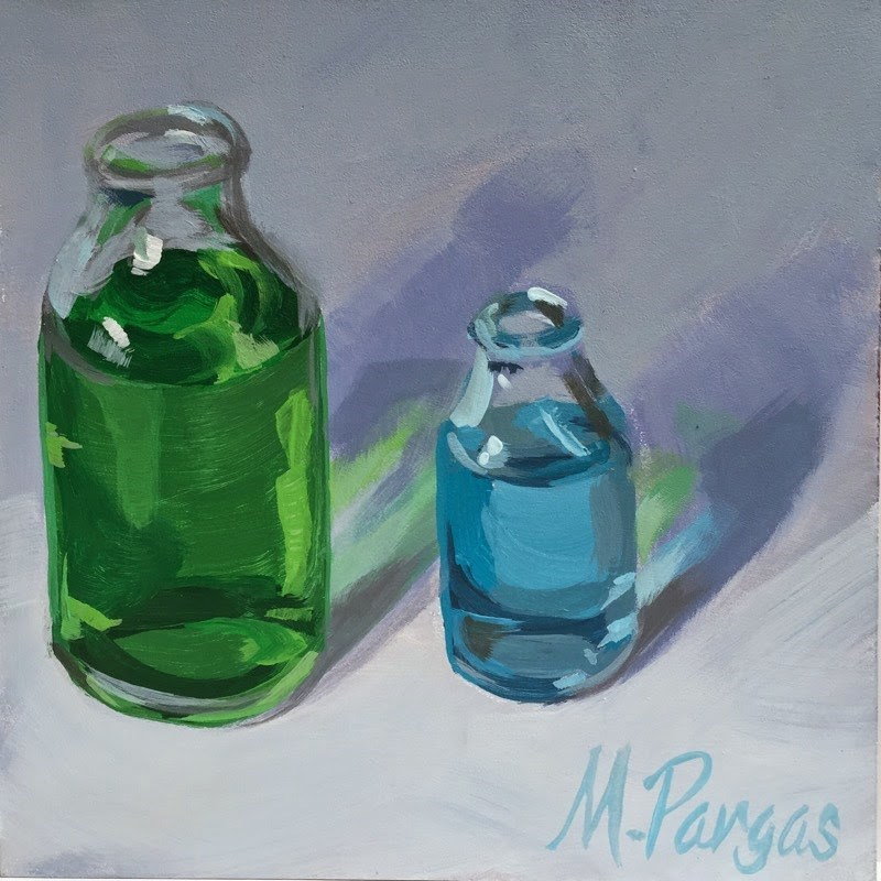 """Potent Potables"" original fine art by Mary Pargas"