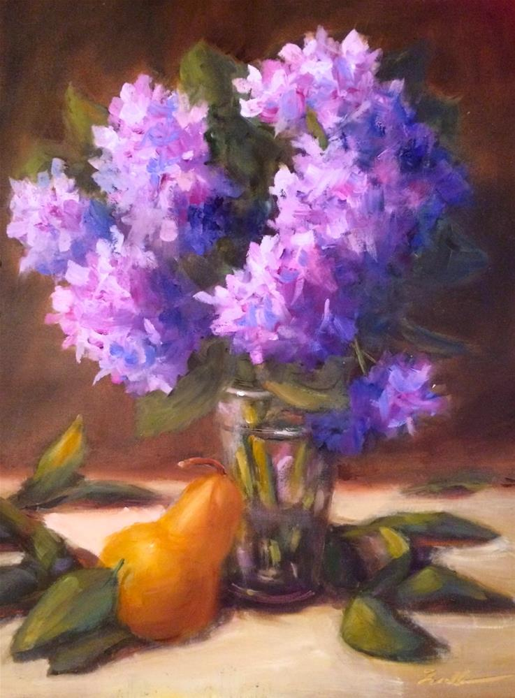 """Hydrangeas Alla Prima"" original fine art by Pat Fiorello"