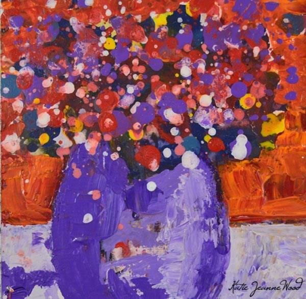 """Flower Painting No 61"" original fine art by Katie Jeanne Wood"