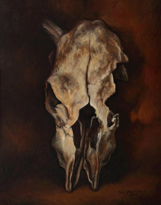 """""""Cow Skull"""" original fine art by Sue Deutscher"""