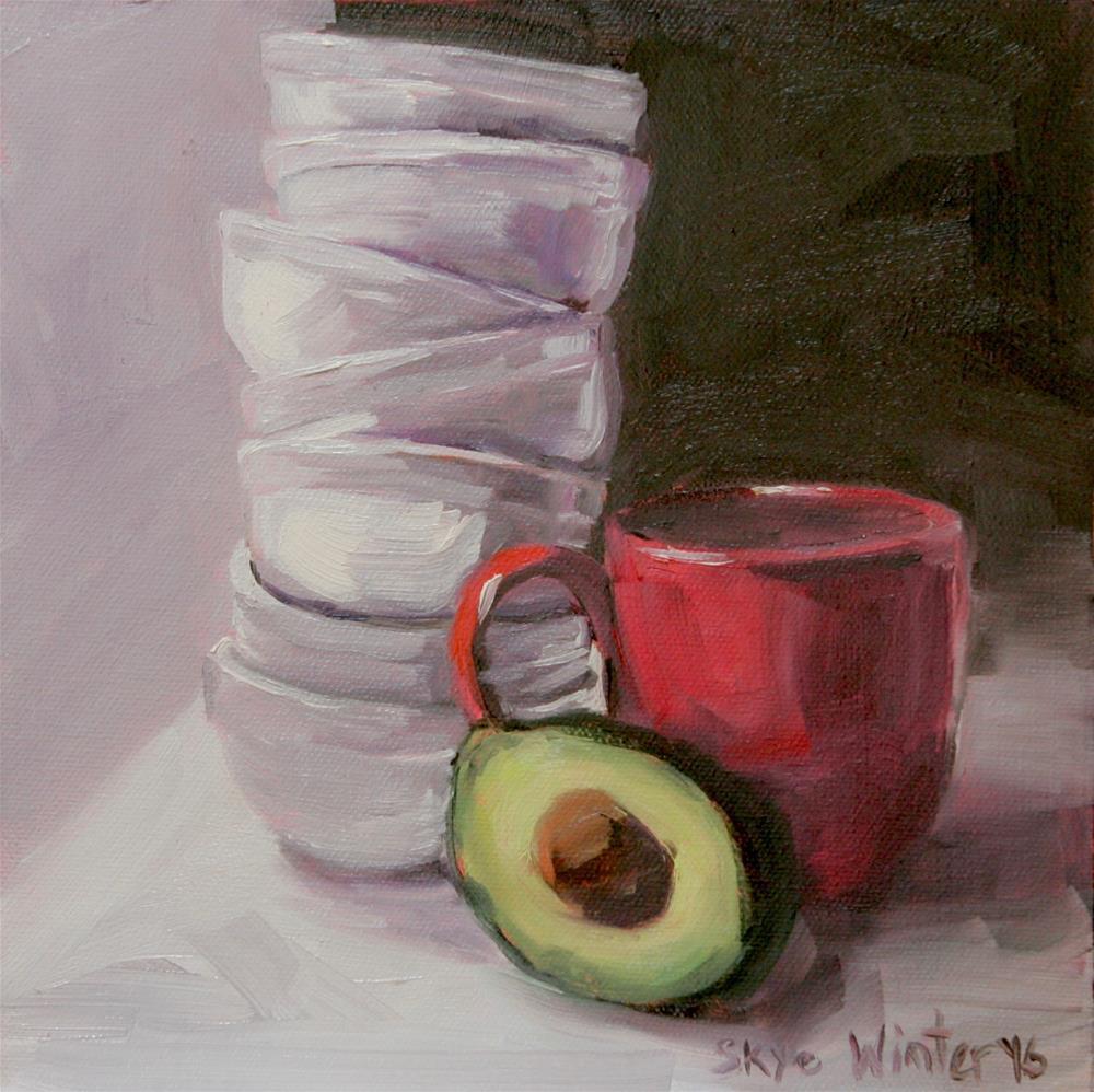 """Stacking Bowls"" original fine art by Skye Coddington"