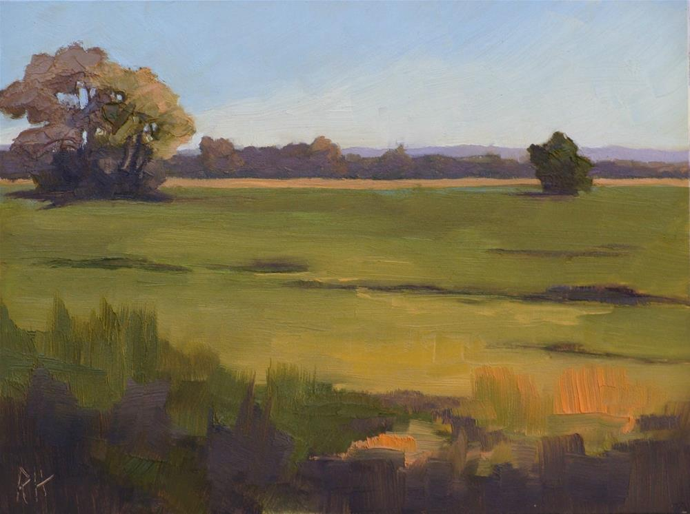 """Fall Fields 2"" original fine art by Rebecca Helton"