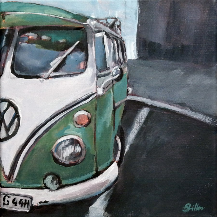 """1697 Bus-y"" original fine art by Dietmar Stiller"