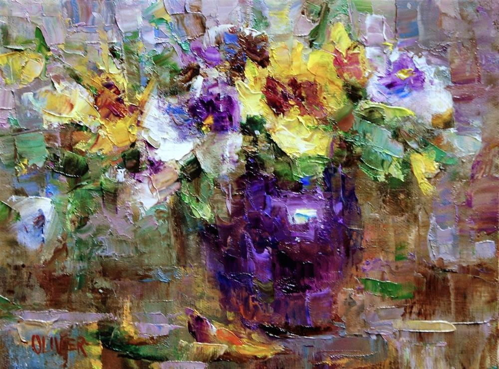 """Pansy Pleasure"" original fine art by Julie Ford Oliver"