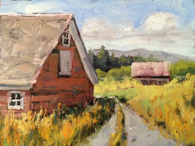 """""""Montana Ranch"""" original fine art by Deborah Newman"""