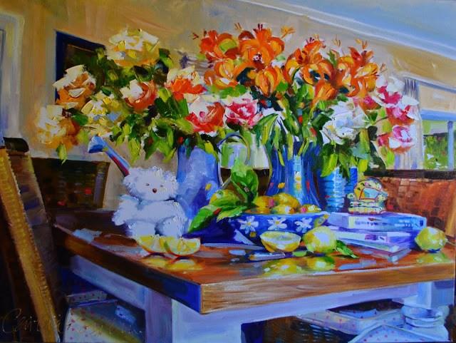 """MACKIE'S MEMORIES"" original fine art by Cecilia Rosslee"