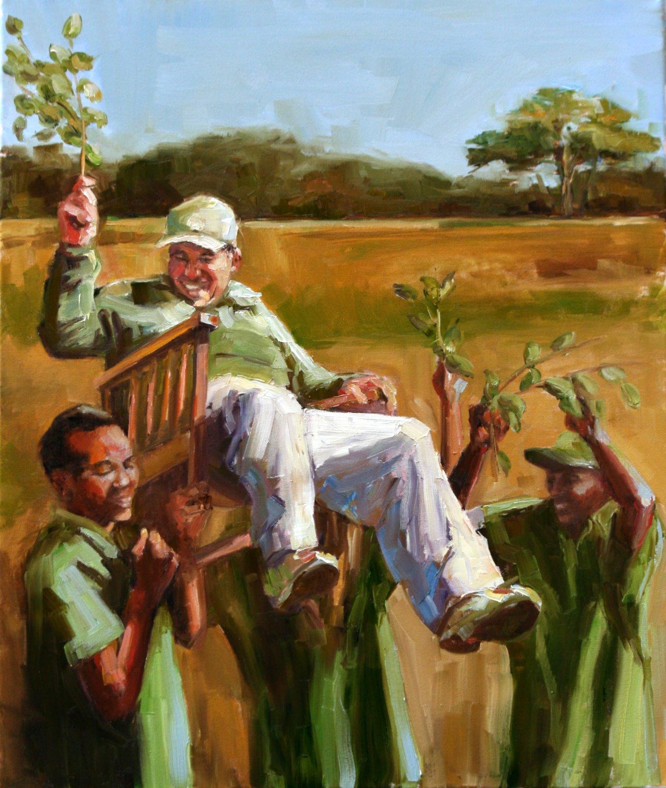 """celebration"" original fine art by Carol Carmichael"