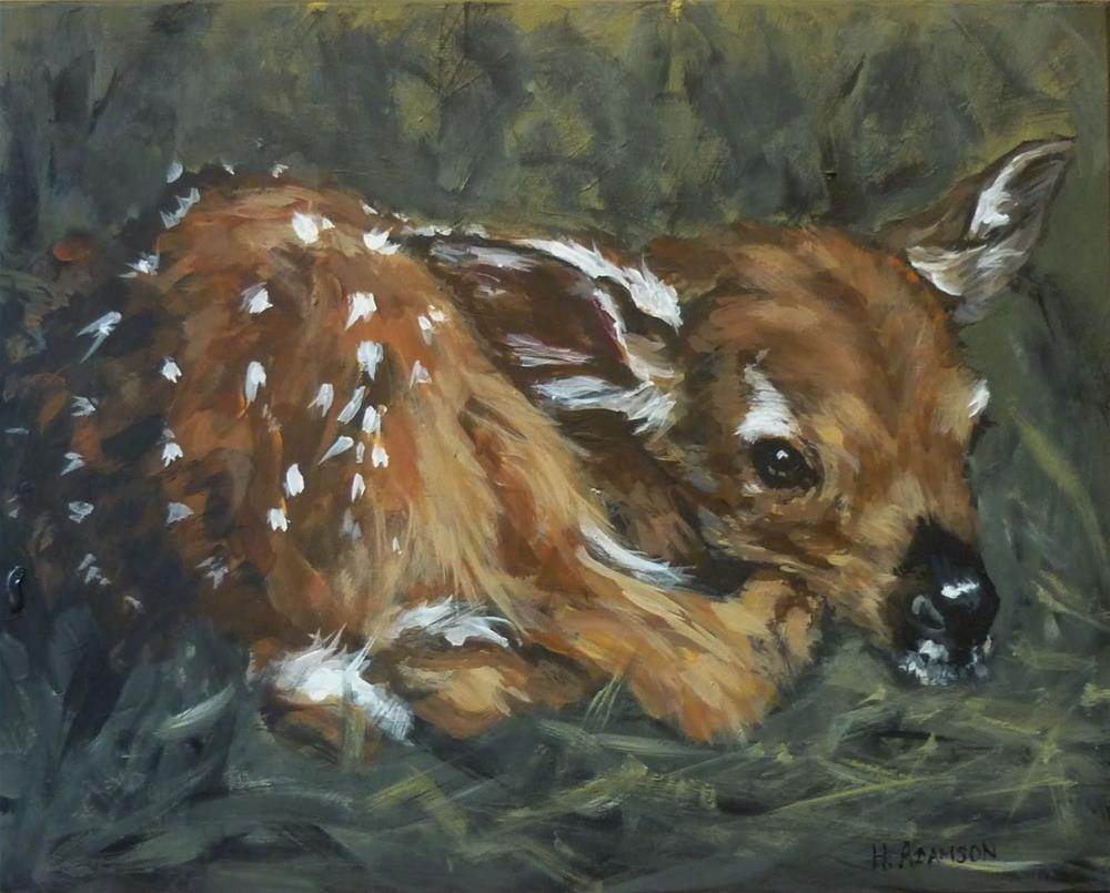 """Curled Up"" original fine art by Helene Adamson"