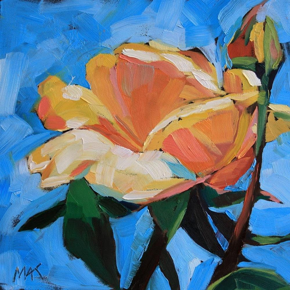 """Rose and Bud"" original fine art by Mary Anne Cary"