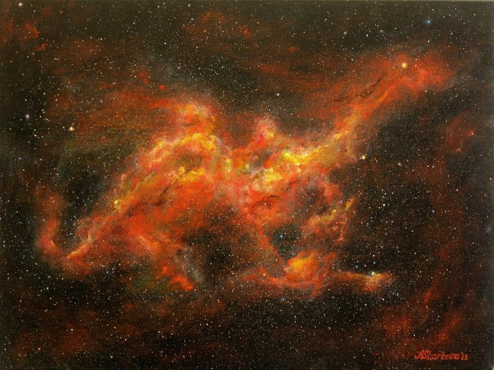 """""""Dragon Nebula"""" original fine art by Anna Starkova"""